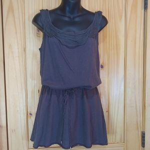 True Grit Tunic Tank Top Charcoal Grey Size S